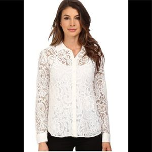 Kut from the Kloth Julissa White Lace Top  S NWT